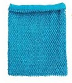 Gehaakte Top GEVOERD Turquoise Blue M+  (maat 116 t/m 134)