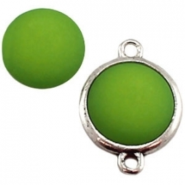 Cabochon Polaris matt 15 mm Fern green