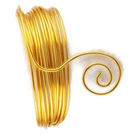 AluDeco Wire 2mm Gold Round (5m)