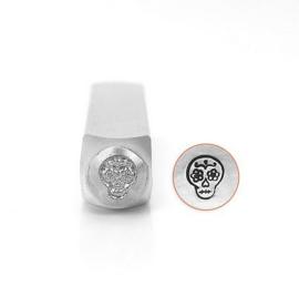 Design Stempel Sugar Skull  6mm ImpressArt