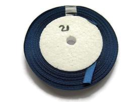 No.21 Donker Blauw Satijnlint 10MM (per rol)