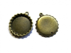Cabochon hanger Bottle cap Brons 25mm