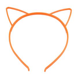 Haarbeugel Kattenoortjes Oranje