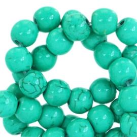 Kraal Keramiek Turquoise  Emerald Green 8mm