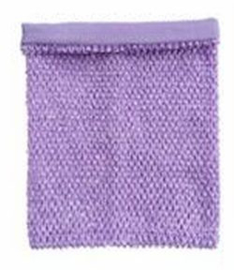 Gehaakte Top GEVOERD Lavender M+  (maat 116 t/m 134)