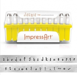 Lowercase Jeanie Letter Set 4mm ImpressArt