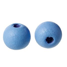 Houten ronde kraal Blue 8mm (ca 40 stuks)