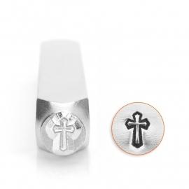 Design stempel Cross outline 6mm ImpressArt