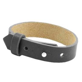 Cuoio Armband Leer 15mm Lava grey