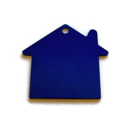 VOORDEELVERPAKKING 15 stuks Tag Huisje Groot Blauw aluminium