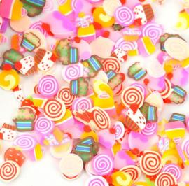 Fimo Snoepgoed Schijfjes Assorti tbv Resin / Giet Hars