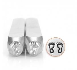 Design stempel set Feet  Outline 6mm ImpressArt