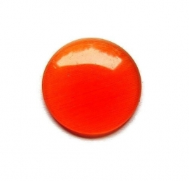 Cat Eye Cabochon Oranje Rood 18mm Rond