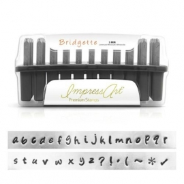 Lowercase Bridgette Premium Letter Set 3mm (voor RVS) ImpressArt