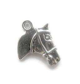 VOORDEELVERPAKKING 30 stuks Bedels Paardenhoofd Antique Silver