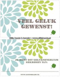 VERZENDSERVICE Sleutelhanger Geluksengeltje GOUD Gemstone (incl. verzendkosten en kaartje)