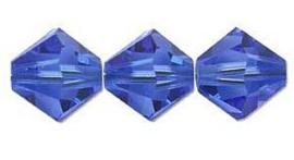 Swarovski kralen Bicone 4mm Sapphire (10st.)
