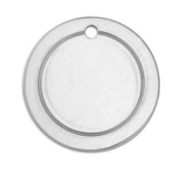 BORDER Tag rond aluminium 19 mm