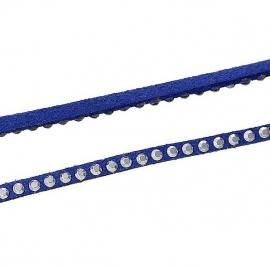 Faux Suede Donker Blauw met Studs per meter