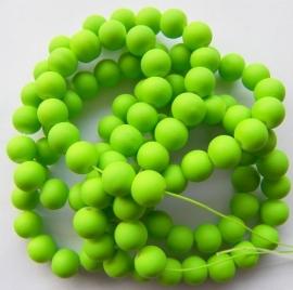 Mat met rubberlaagje Groen 6mm, per streng