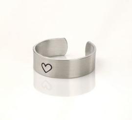 Ring strip aluminium 6.3x50mm Small