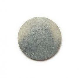 Tag rond aluminium 22mm (1,3mm dik)