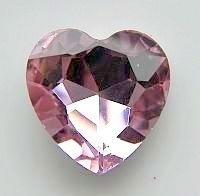 Rhinestone hart Roze 27mm