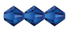 Swarovski kralen Bicone 4mm Majestic Blue (10st.)
