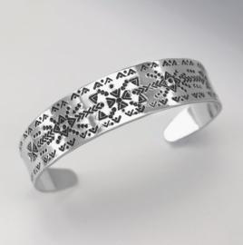 Tapse Armband strip aluminium 155 x 16 x 1,7mm ImpressArt