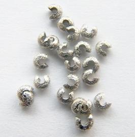 Knijpkraal verberger  Stardust Silver tone 4mm