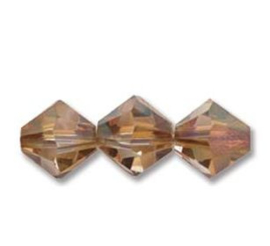 Swarovski kralen Bicone 4mm Crystal Copper (10st.)