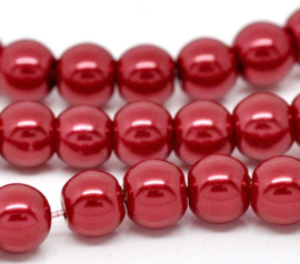 Glasparel  Rood 6mm (Per streng)