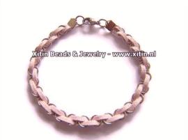 Zelfmaak pakketje Faux Suede Armbandje met Ringen diverse kleuren