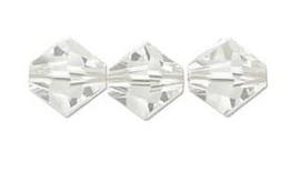 Swarovski kralen Bicone 4mm Crystal Silver Shade (10st.)