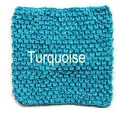Gehaakte Top Turquoise Blue S  (maat 50 t/m 80)