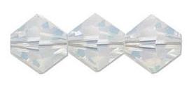 Swarovski kralen Bicone 4mm White Opal (10st.)