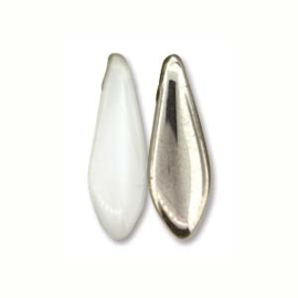 Dagger Bead  White Chrome 5x16mm (25st)