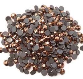 Rhinestone Flatback  SS12 Rose Gold Hematite 3mm
