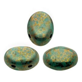 Samos Opaque Green Turquoise Bronze