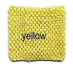 Gehaakte Top Yellow M (maat 86 t/m 116)