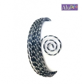 AluDeco Wire 2mm Zwart Diamond Cut (5m)