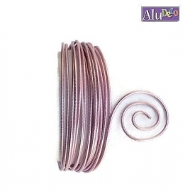 AluDeco Wire 2mm Rose Embossed (5m)
