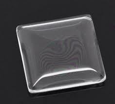 Glas cabochon Vierkant 25 mm