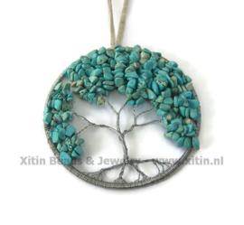 Levensboom Raamhanger Howliet Turquoise
