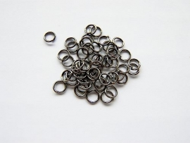 Jump ring Gunmetal 5mm