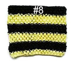 Gehaakte Top #8 Yellow / Black S  (maat 50 t/m 80)