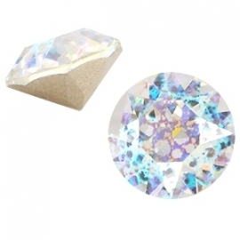 Swarovski Elements SS29 puntsteen (6.2mm) Crystal White Patina