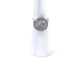 Ringetje met kleurige glitter top