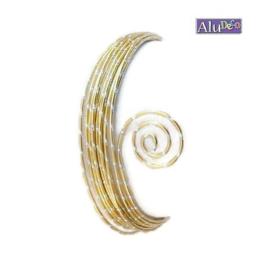 AluDeco Wire 2mm Light Gold Diamond Cut (5m)