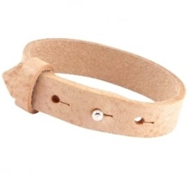 Cuoio Armband Leer 15mm Cream Cognac Brown